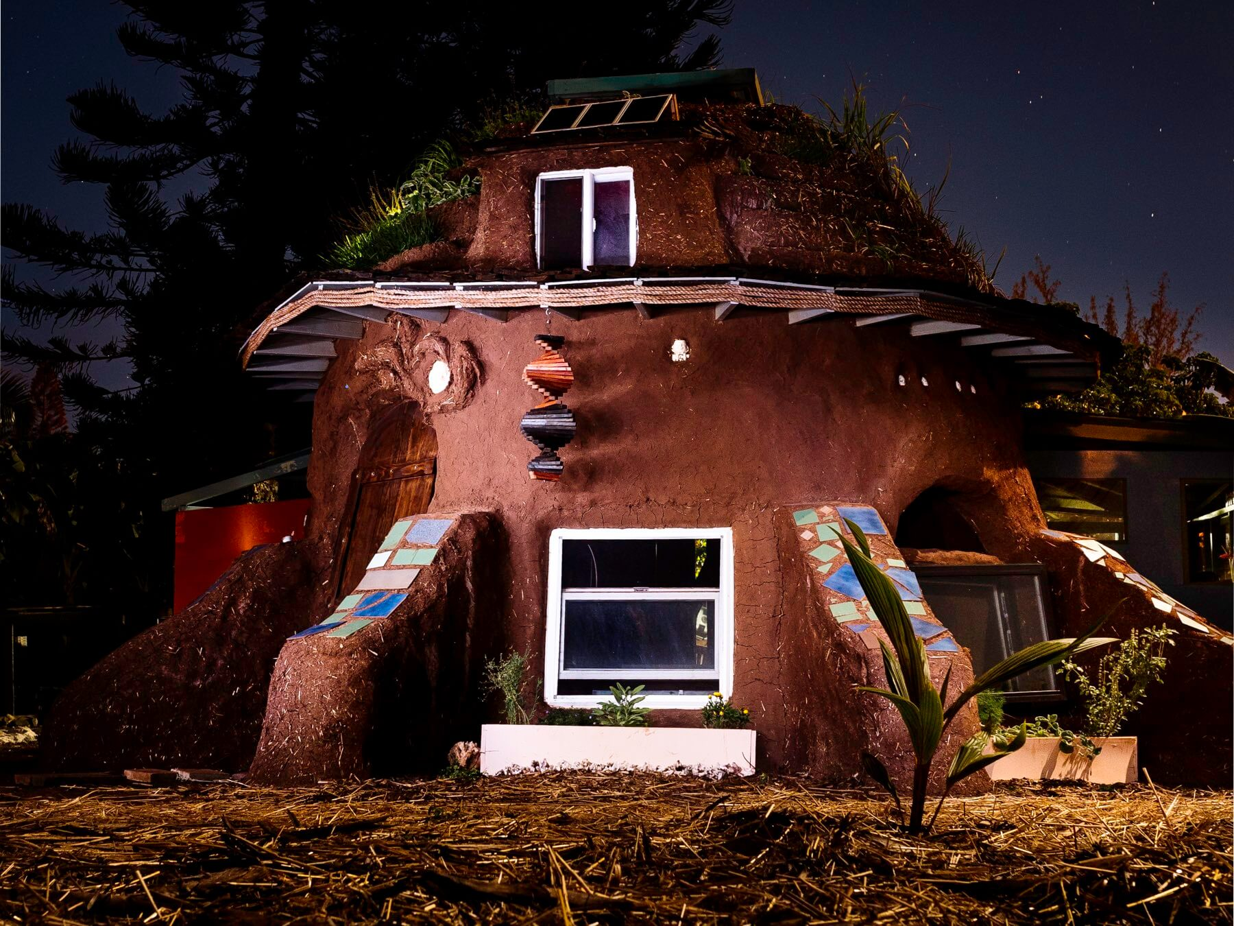 Earthbag Dome House