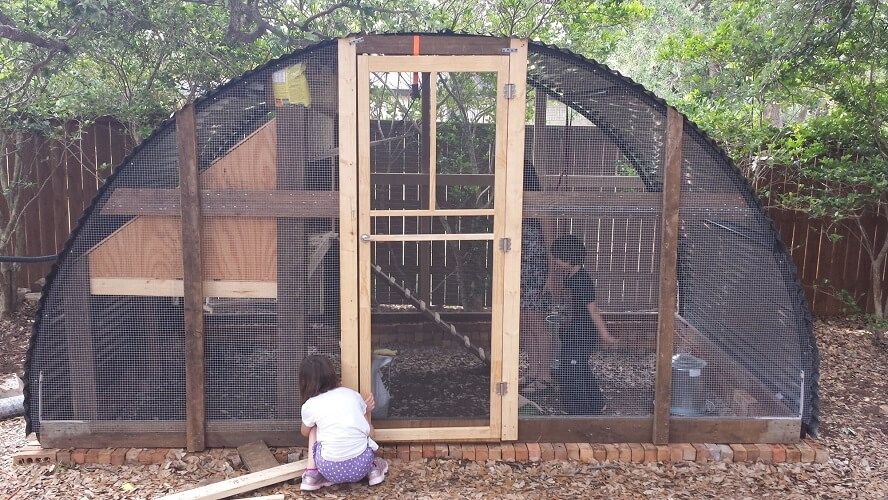Recycled Trampoline Chicken Coop Plans