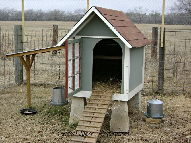 Repurposed Dog House Chicken Coop