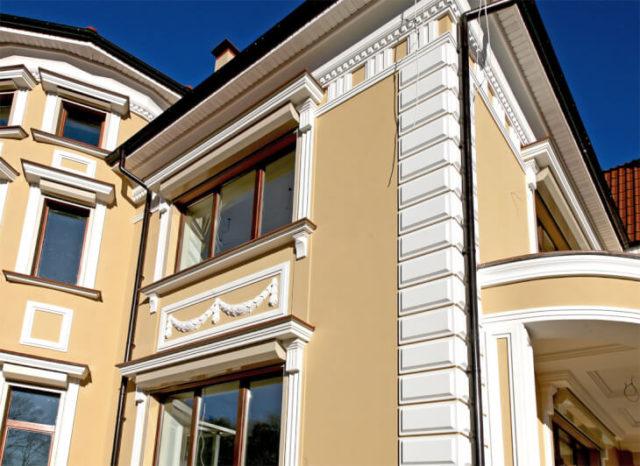 Фасадная лепнина - простой способ эффектной отделки