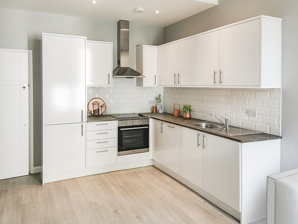 The lavish building comes with a fully-fitted kitchen complete with laminated flooring, a built in dishwasher, washing machine and fridge freezer