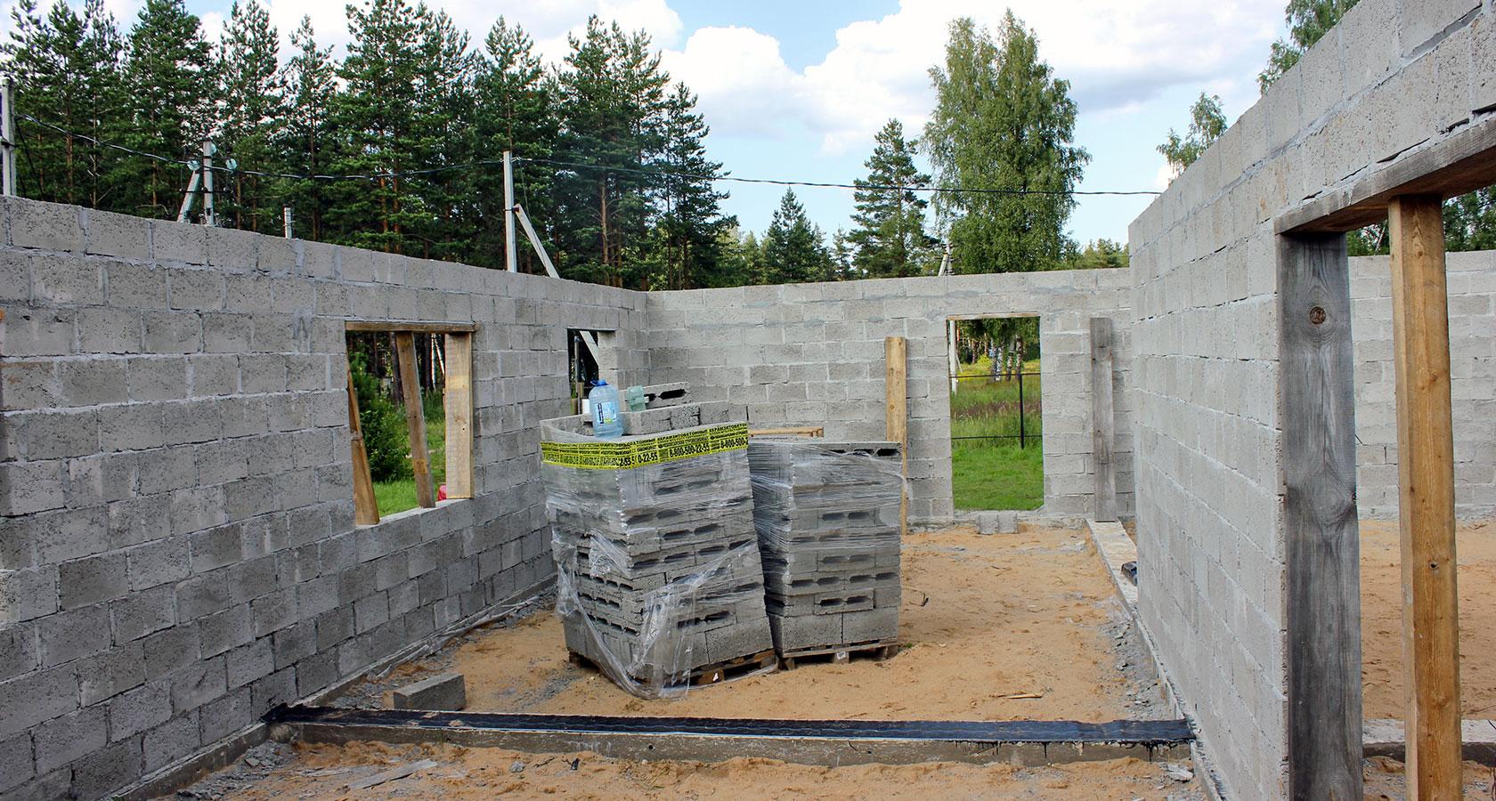 Строим дом из керамзитобетона енир на укладку бетонной смеси
