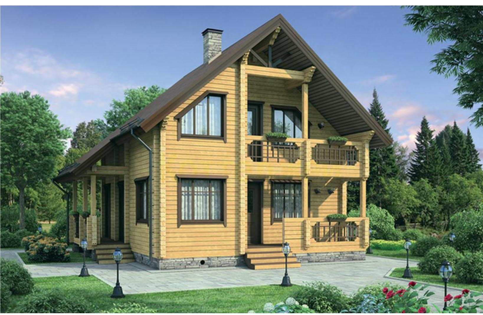 Дом из клееного бруса к 126