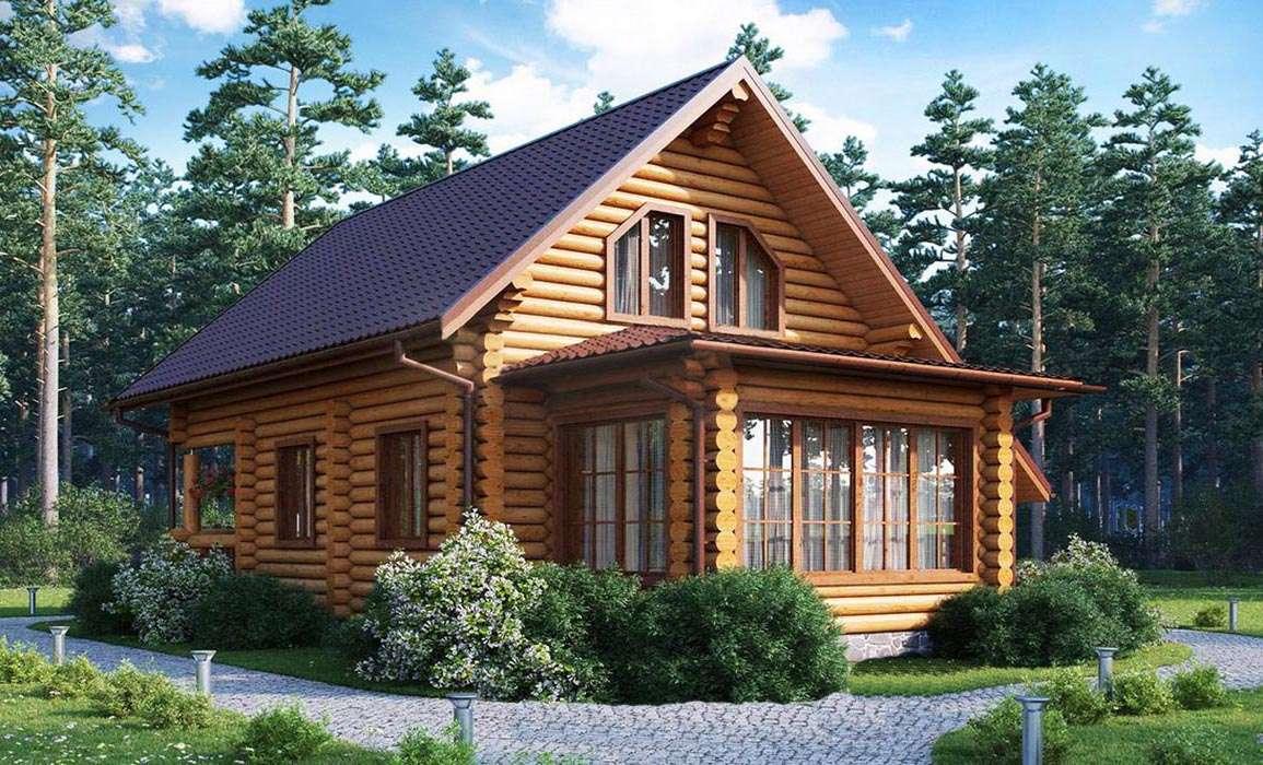 Дом из оцилиндрованного бревна 2