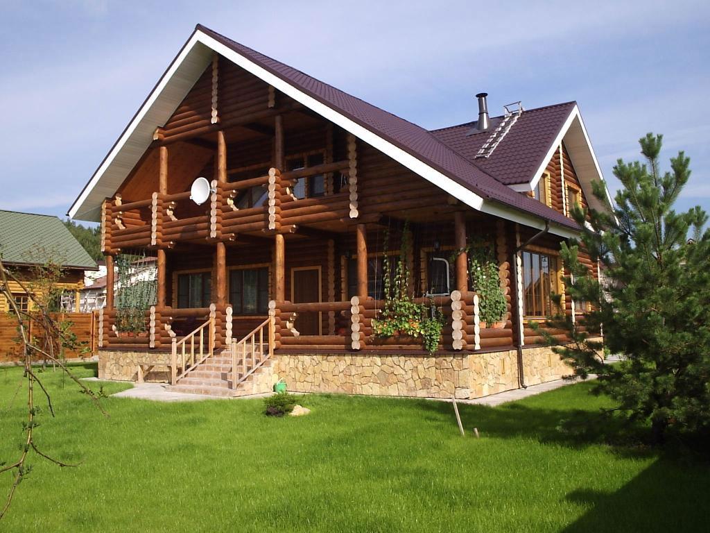 Дом из оцилиндрованного бревна 5